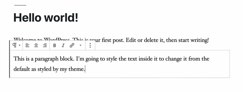 Style de bloc Gutenberg