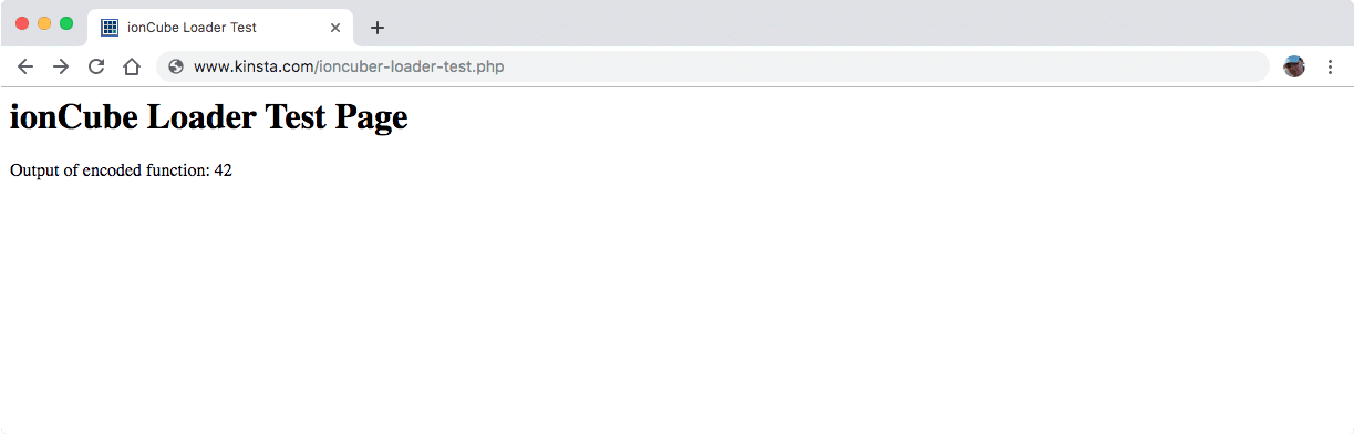 Test du fichier PHP brut