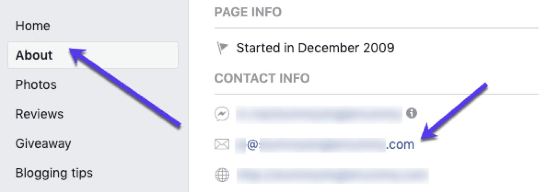 Trouver des e-mails sur Facebook