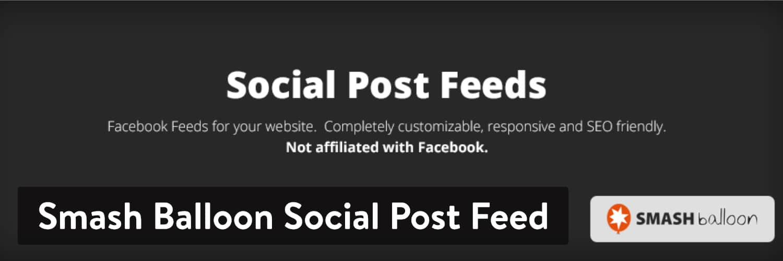 Extension WordPress mash Balloon Social Post Feed