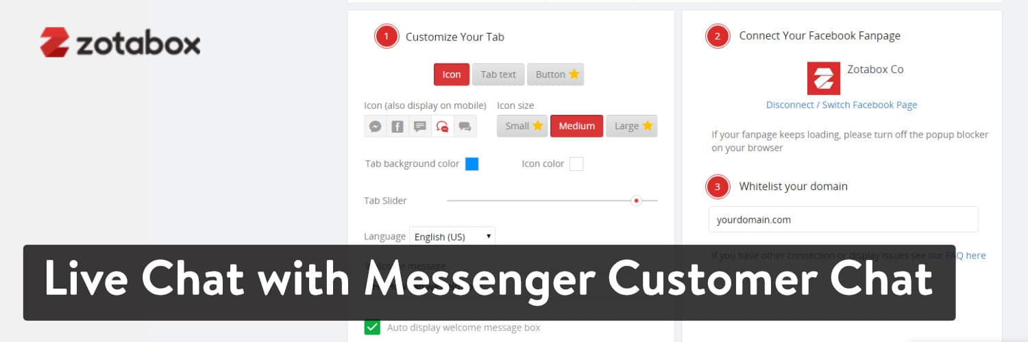 Extension WordPress Live Chat with Messenger Customer Chat