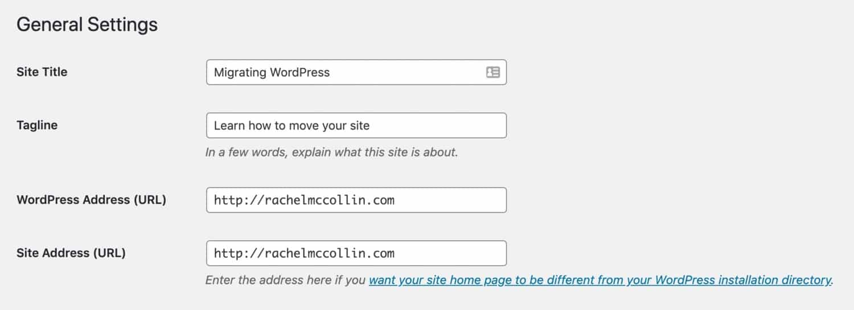 Réglages des URLs de WordPress