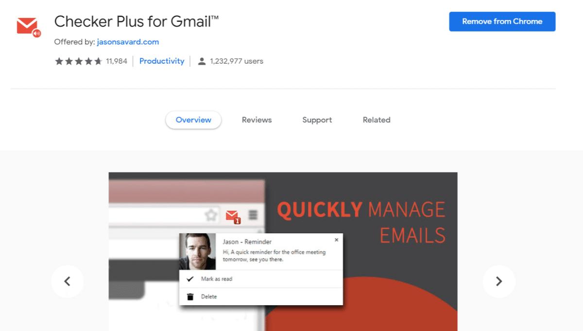 Checker Plus pour Gmail