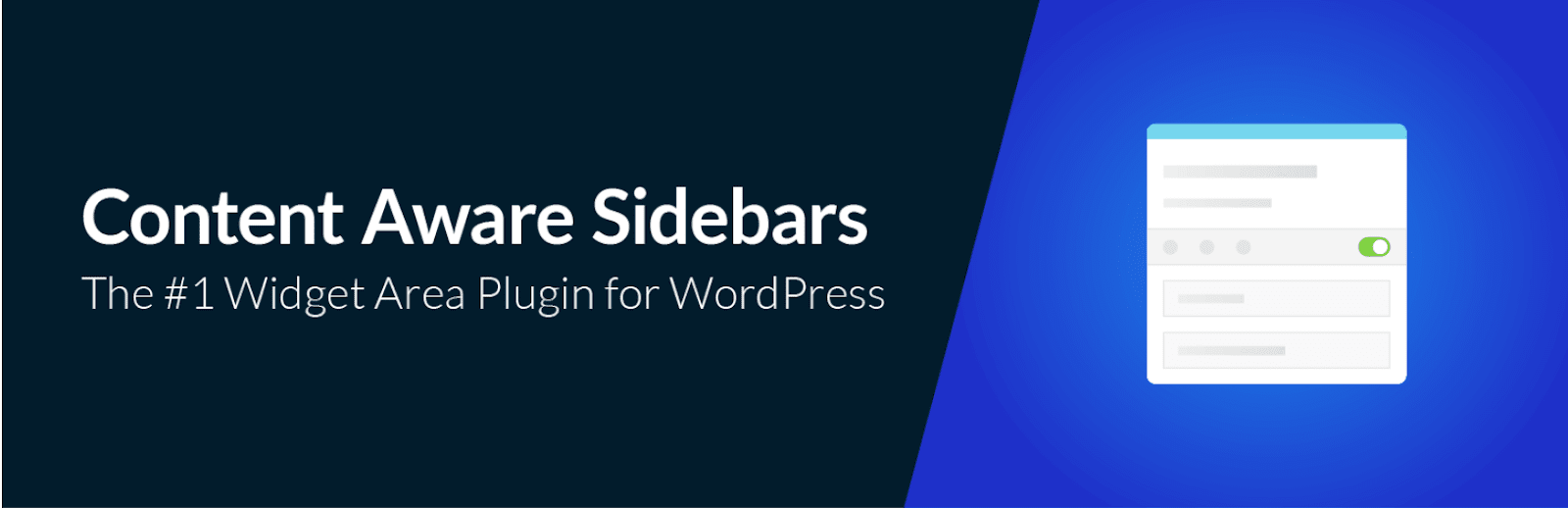 Extension WordPress Content Aware Sidebars