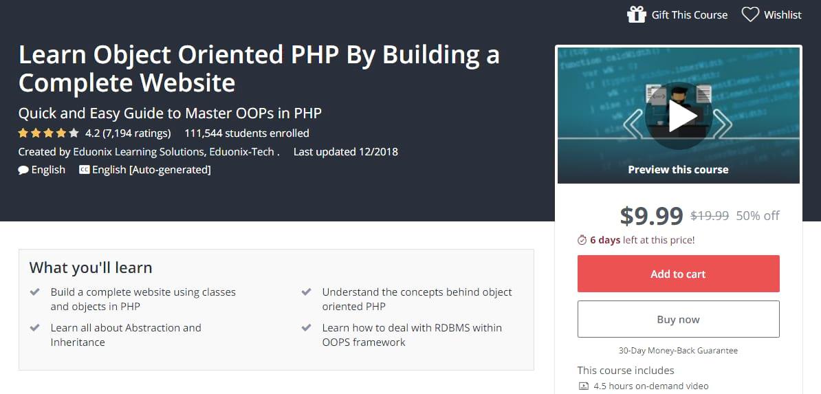 Cours PHP orienté objet