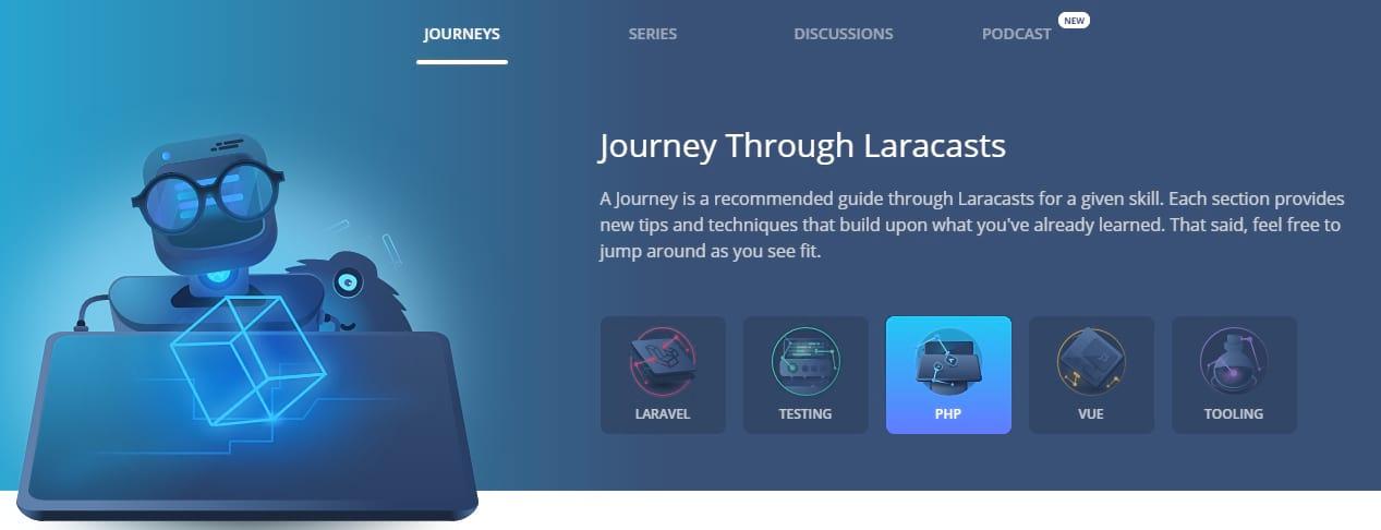 Best PHP tutorials - laracasts journey