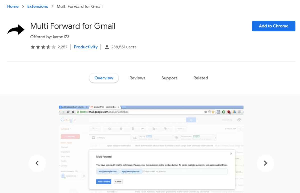 Multi Forward for Gmail
