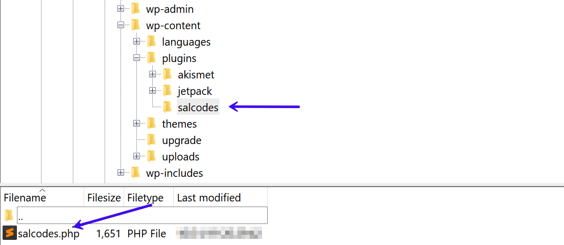 Notez l'emplacement du répertoire des extensions