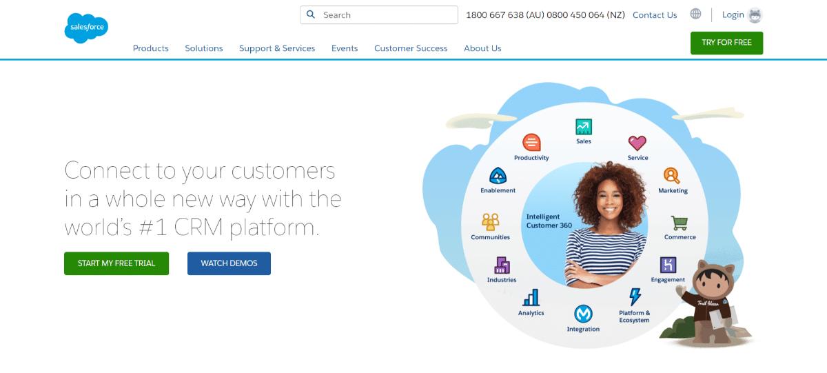 Salesforce propose des essais gratuits