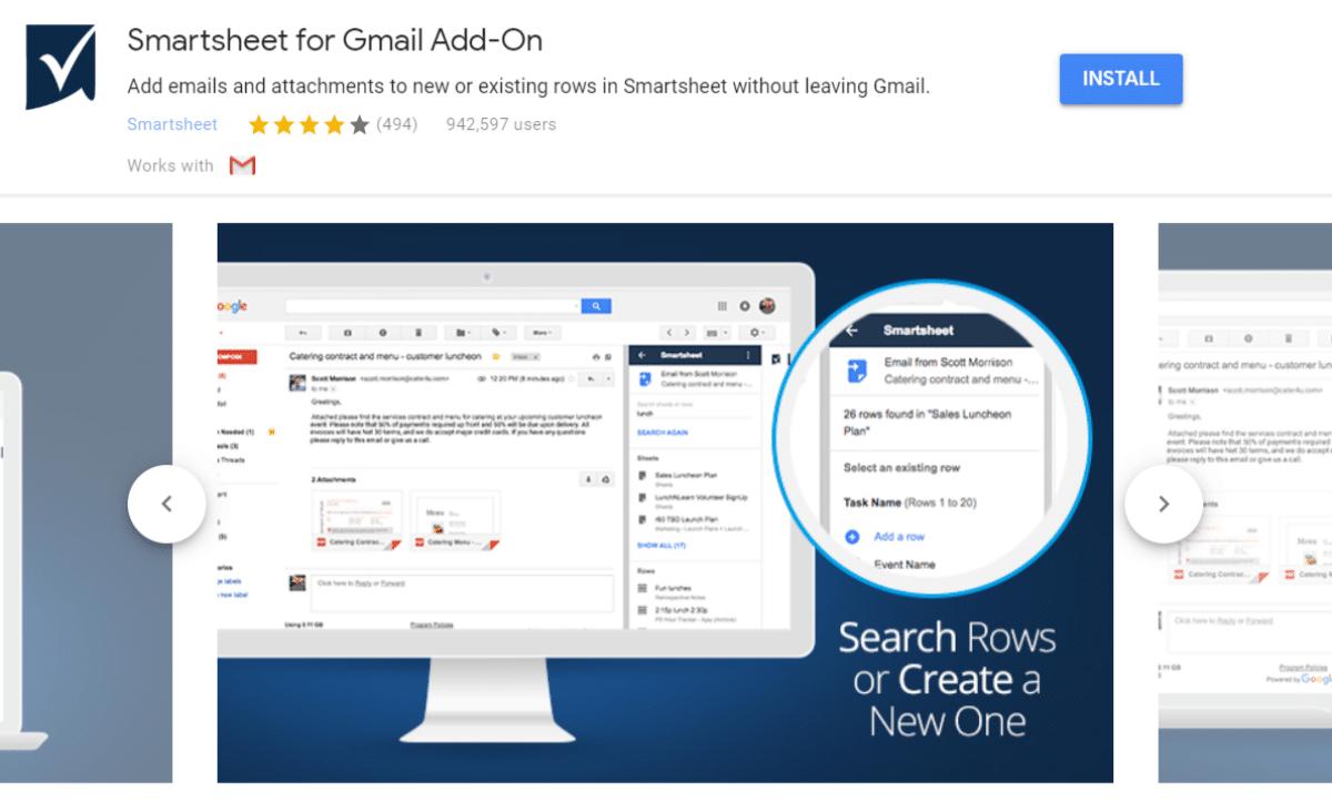 Smartsheet for Gmail