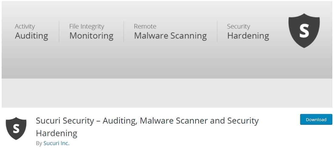 Sucuri Security est une extension de sécurité gratuite pour WordPress