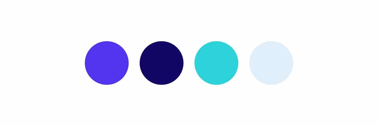 Exemple de la palette de couleurs de Kinsta