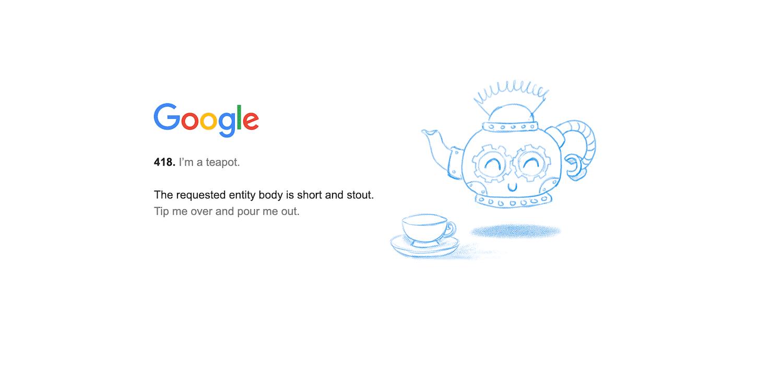 Code de statut 418 « I'm a teapot »