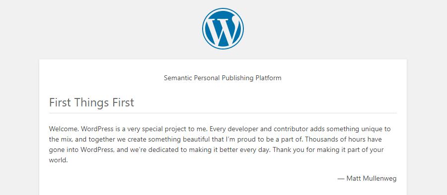 Readme HTML de WordPress