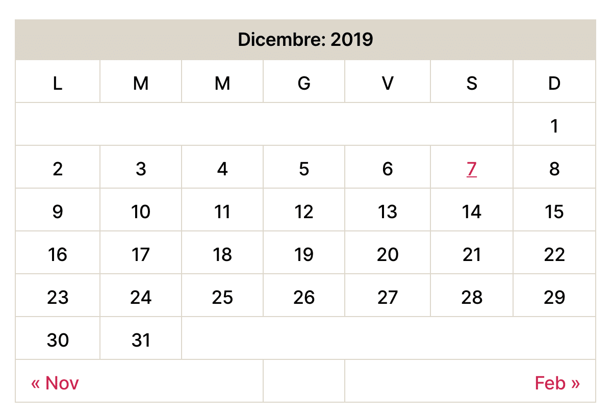 Ancien widget calendrier