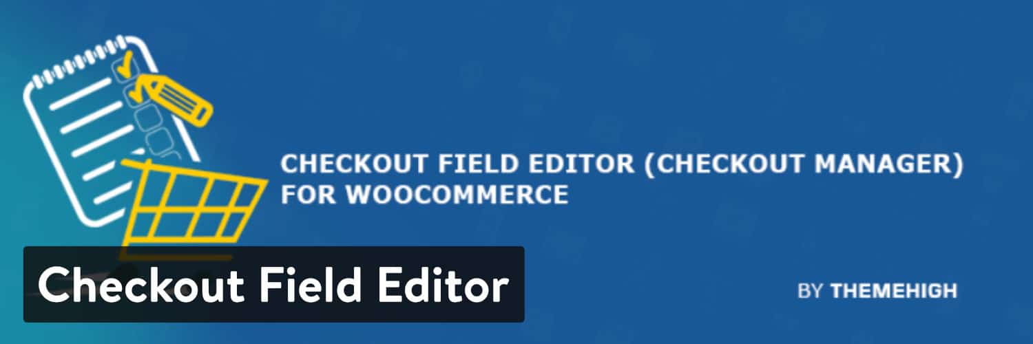 Plugin WordPress Checkout Field Editor