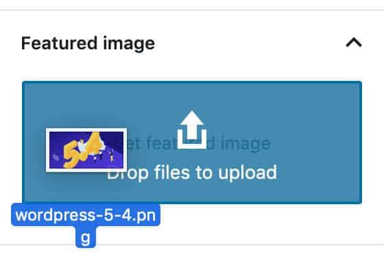 Glisser-déposer l'image mise en avant
