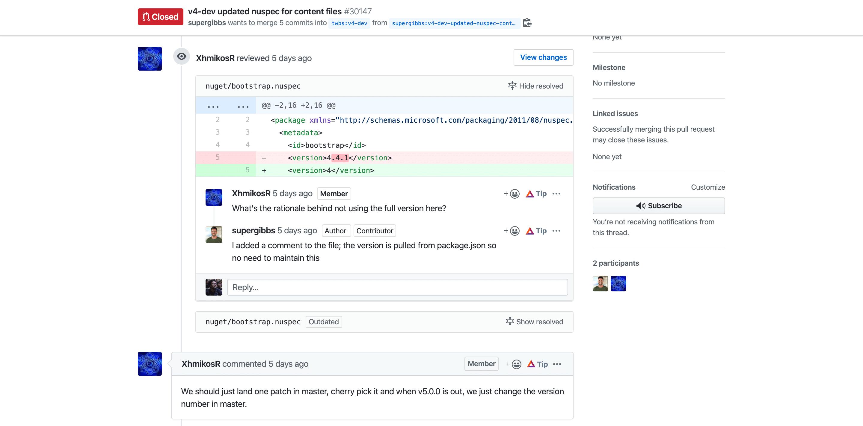 Outil de revue de code GitHub dans le cadre d'une Pull Request