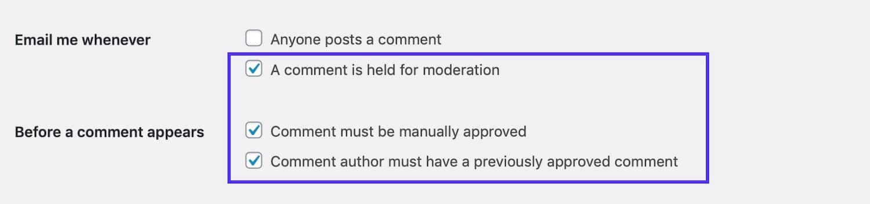 Permettre la modération des commentaires