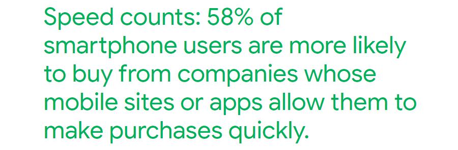 La vitesse compte beaucoup pour les acheteurs mobiles
