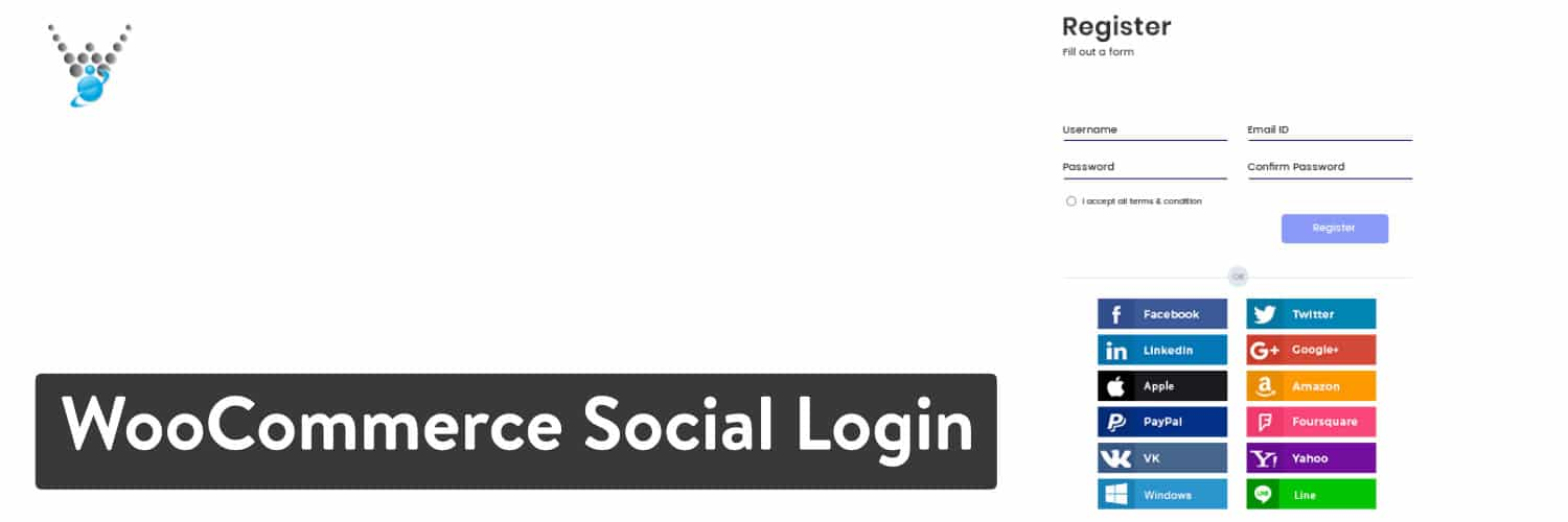 Plugin WordPress WooCommerce Social Login