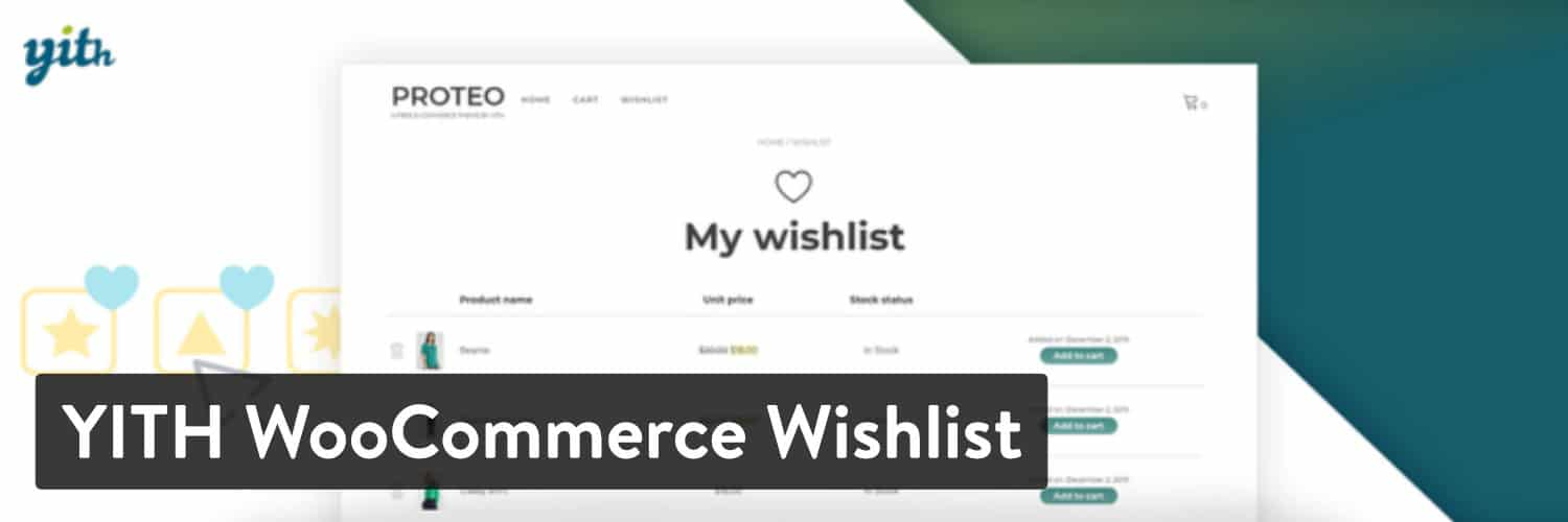 Extension WordPress YITH WooCommerce Wishlist