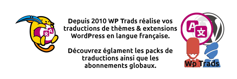 WpTrads, Traductions Françaises WordPress