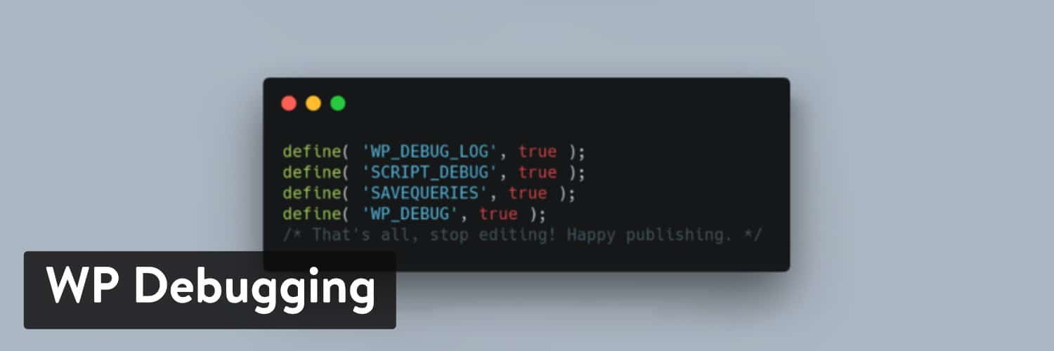 Extension WordPress WP Debugging