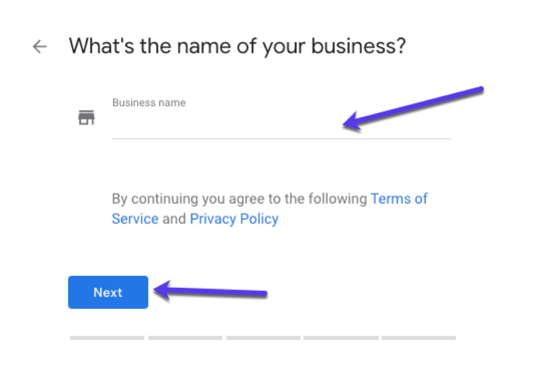 Ajout de votre nom d'entreprise sur GMB