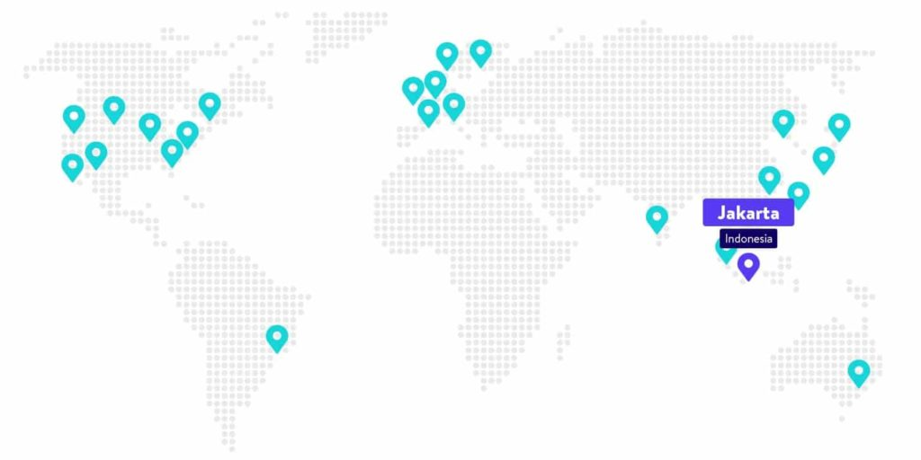 Le centre de données de Google Cloud Platform à Jakarta, en Indonésie.