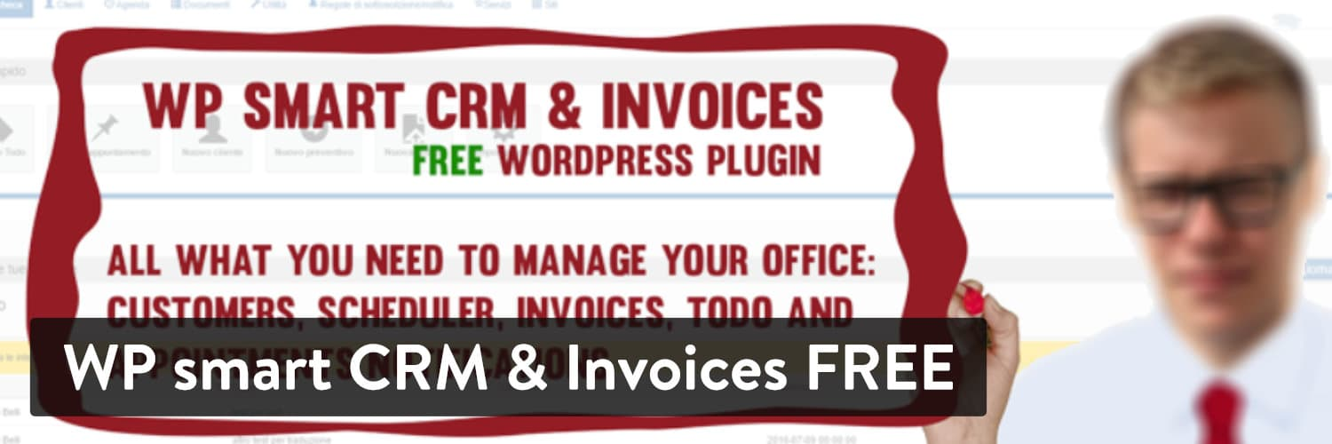 Extension WordPress WP smart CRM & Invoices FREE