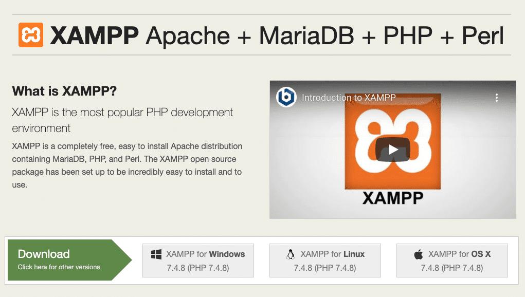 Le site web Apache Friends