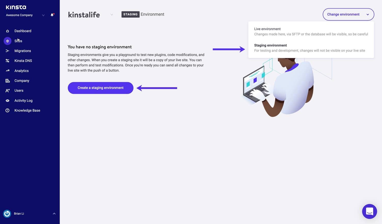 Créer un environnement de staging WordPress.