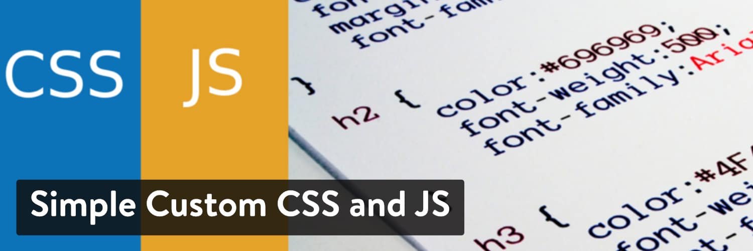 Extension WordPress Simple Custom CSS and JS