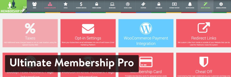 Extension WordPress Ultimate Membership Pro