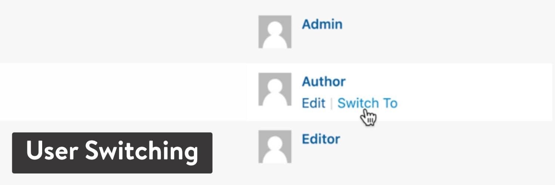 L'extension WordPress «User Switching»