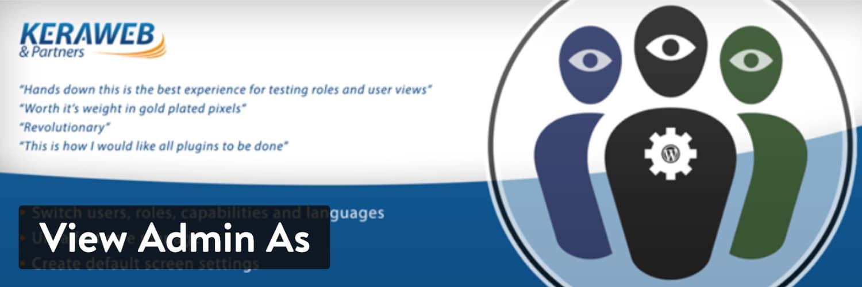 L'extension WordPress «View Admin As»