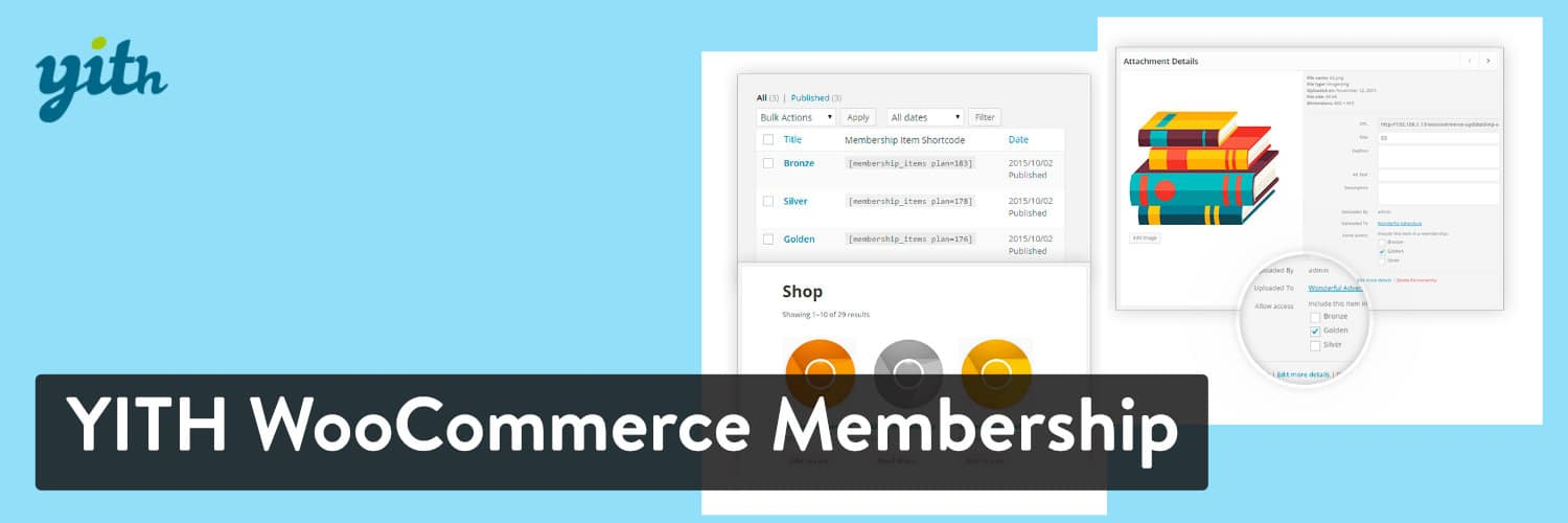 Extension WordPress YITH WooCommerce Membership