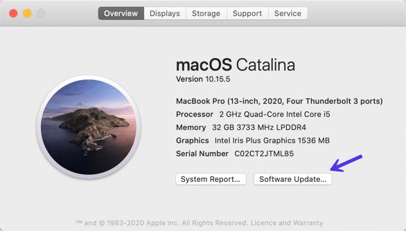 Mise à jour de macOS