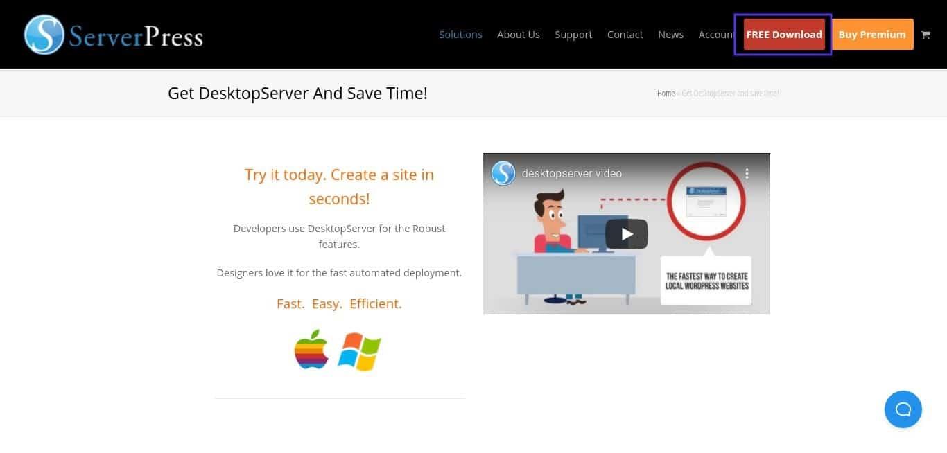 Le site web de ServerPress