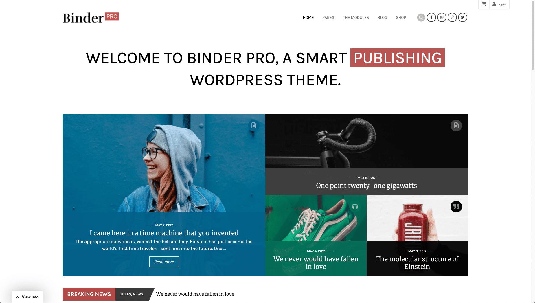 binder pro - WordPress membership theme