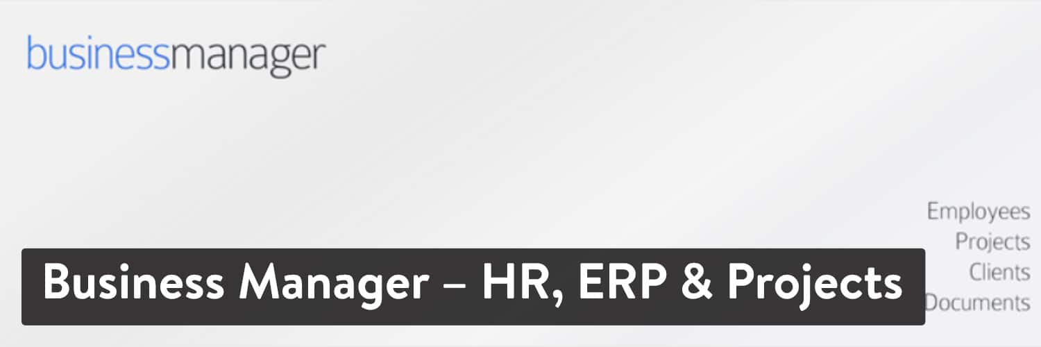 Extension WordPress Business Manager - RH, ERP & Projects
