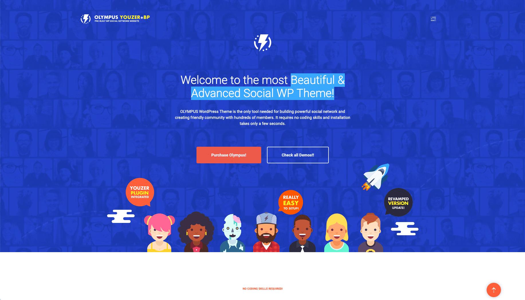 Olympus - WordPress membership theme