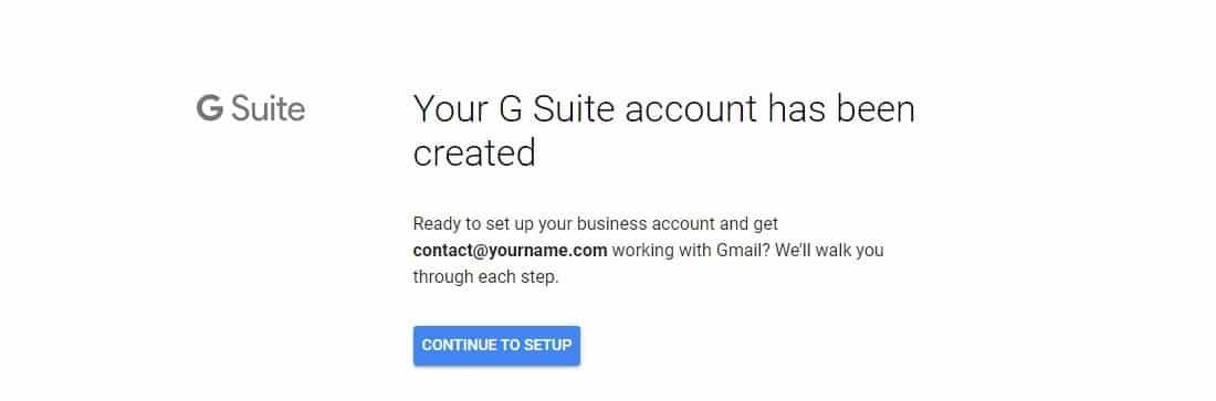 Création d'un compte G Suite