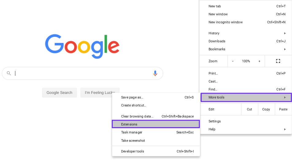 Les extensions de Google Chrome