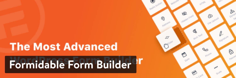Extension WordPress Formidable Form Builder
