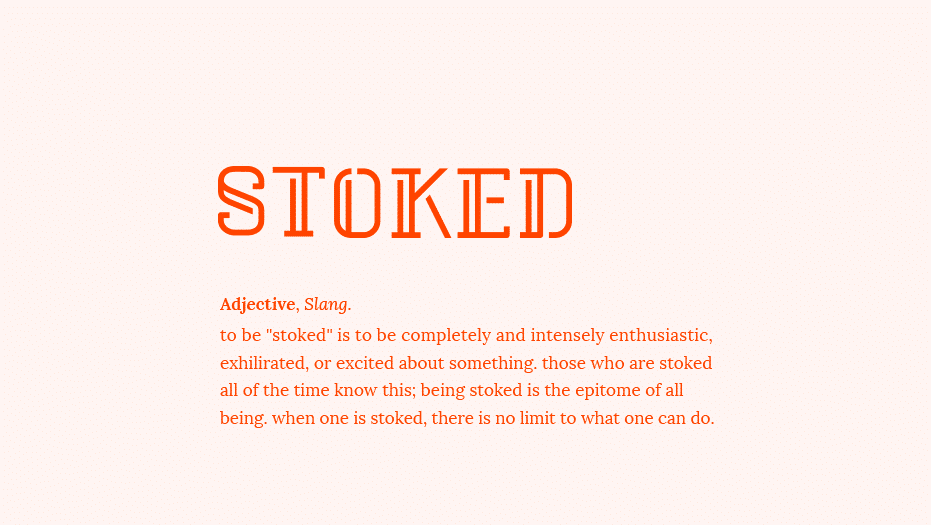 Modern fonts: stoked