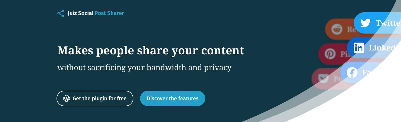 Extension WordPress Social Post sharer