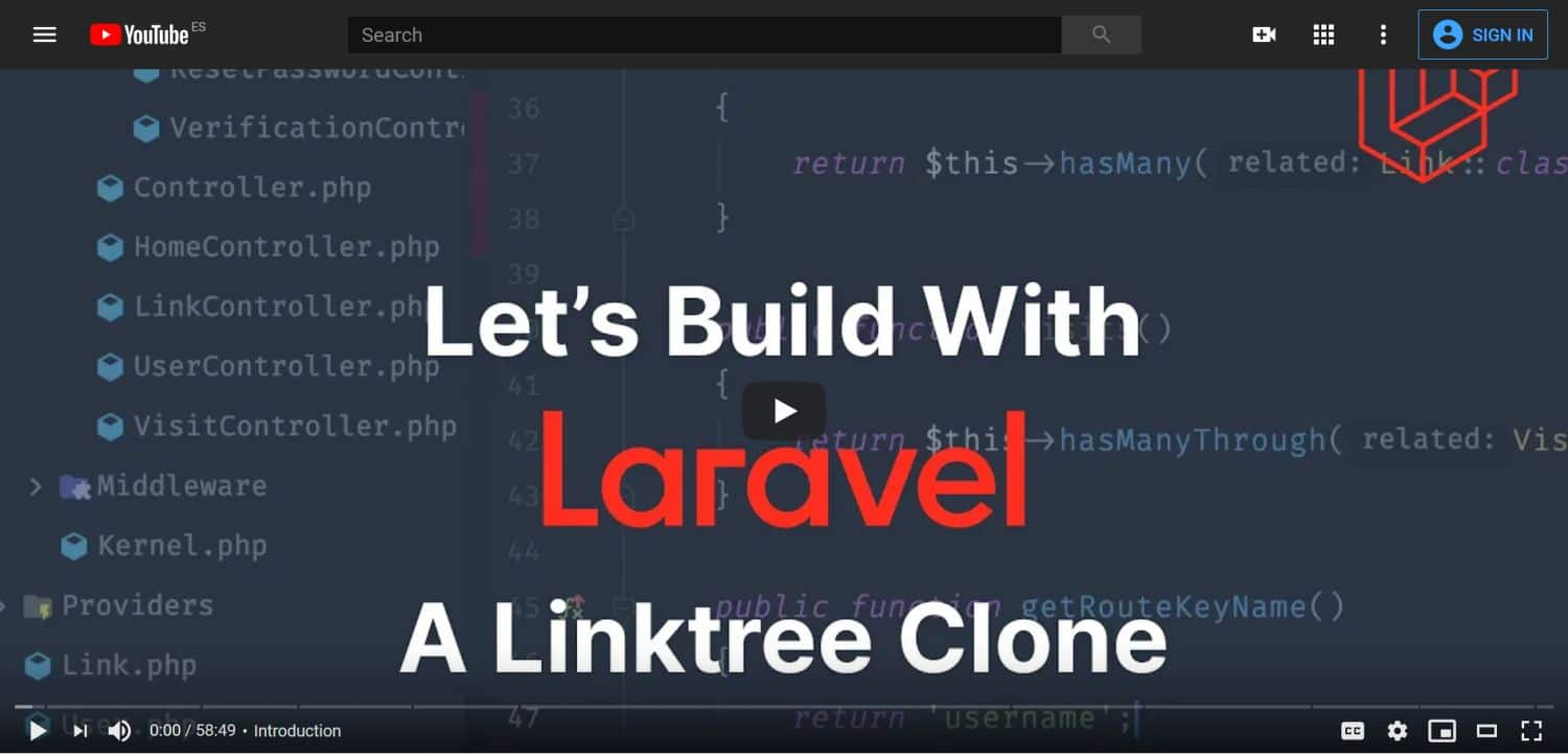 Let's Buils with Laravel : A Linktree Clone