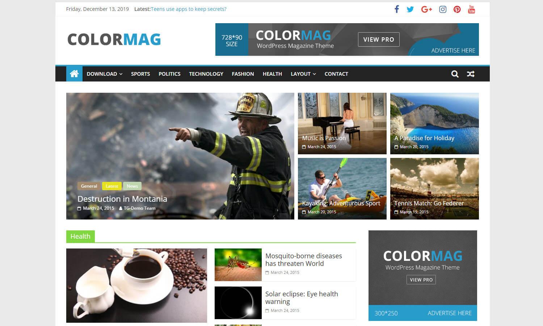 ColorMag schermata